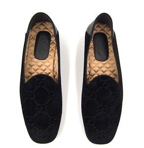GUCCI Fold-Down Heel velvet  Loafers