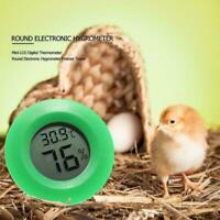 Circular Digital Thermometer Reptile Electronic Hygrometer Pet Detector Tes E0Z8