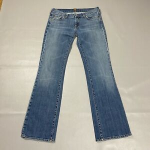7 For All Mankind Jeans Womens Size 30 Blue Medium Wash Denim Bootcut Low Rise