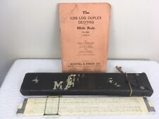 K & E Keuffel Esser Slide Rule 4081-3 Log Log Duplex Decitrig & K&E Case 1943 #H