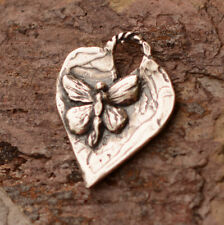 Butterfly Heart Charm Sterling Silver, H-687