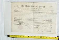 MILLARD FILLMORE Presidential Signed LAND GRANT 1852 ~ NO RESERVE!
