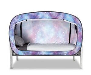 Privacy Pop Bed Twin Tent - Unicorn Galaxy