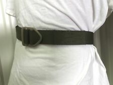 """RIGGERS BELT 1.75"""" OD NYLON STRAP CUT TO FIT WAIST BUCKLE MADE USA DURACOAT TAN"""