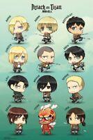 Shingeki no Kyojin Attack on Titan Poster Pack Chibi Characters 61 x 91 cm ( ...