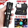 Tactical 5000lm X800 Zoomable XML T6 LED Flashlight Torch+18650 Battery+Charger