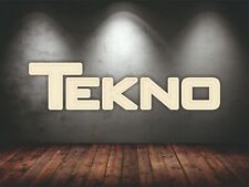 TEKNO RC Car logo 5 ft wide wall wooden logo gift