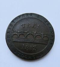 More details for 1813 stockton-on-tees, christopher & jennett one penny token