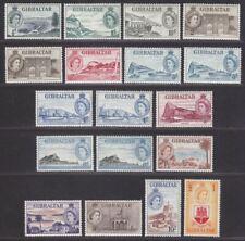 Gibraltar 1953 Queen Elizabeth II Set UM Mint SG145-158 cat £180 MNH bend on £1