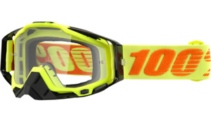 100% Racecraft Goggles - Attack Yellow - Clear