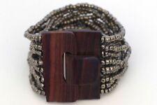 Bali Beaded Buckle Bracelet - Silver