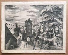 Original Early 17th Cent Engraving MATTHAUS MERIAN (1593-1650) Heidelberg