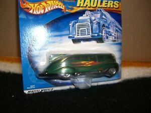 Hot wheels Haulers Green Custom Bus