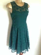 Teal Lace Skater/Fit and Flare Dress