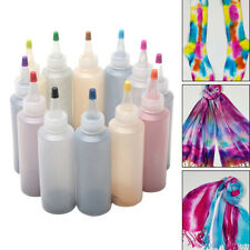 12 Bottle Tulip One Step Tie Dye Kit Fabric Dying Textile Permanent With Gloves
