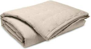 Ralph Lauren Graydon Melange King Quilt Blanket - Dune - NIP