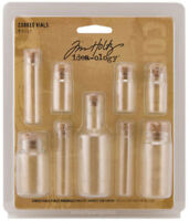 Tim Holtz Idea-ology Corked Vials Embellishments Ideaology Glass Containers