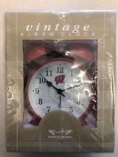 Wisconsin Badgers Vintage Alarm Clock New