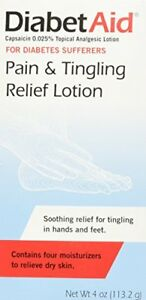 6 Pack DiabetAid® Pain & Tingling Relief Lotion for Diabetics, 4 Oz Each