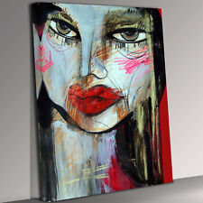 Woman  Stare Canvas Wall Art Picture Print