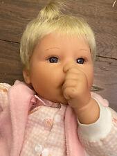 Lee Middleton Original Doll Reva 2000 Little Girl with Blonde Hair Thumb Sucker