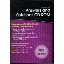 Answers And Solutions Cd-Rom Demo Software Mathematics Brand New
