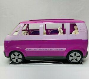 VTG 2002 Barbie Mattel VW Volkswagen Pink / Purple Van With Sliding Door WORKS !
