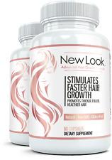 2x NEW LOOK Clinical Strength Hair Skin & Nails Beauty Vitamin Natural Skin Care