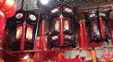 CHINESE XXL 36cm BLACK DRAGON PALACE LANTERN LIGHT JAPANESE PARTY DECO B10