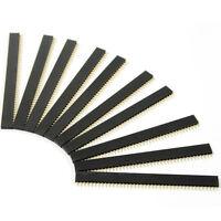 10Pcs 2.54mm 40 Pin Female Single Row Pin Header Strip SP