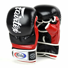 Fairtex FGV18 MMA Leather Sparring Gloves Red Training Martial Arts Mitts Punch