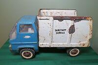 "Tonka Sanitary Service Garbage Truck Pressed Steel 2690 USA 1960's 13"" HV4"