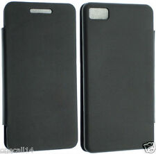 for Blackberry Z10 Leather Wallet Flip Pouch Cover Case Screen Protector Oc30 Black