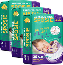 Sposie Overnight Diaper Booster Pads, 90 ct, No Adhesive for Easy Repositioning,