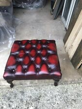 Chesterfield footstool leather New
