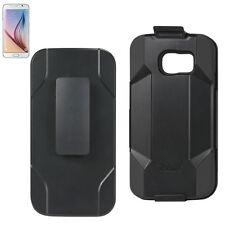 Reiko Samsung Galaxy S6  Belt Clip Holster Kickstand Premium Hybrid Case Cover