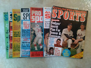 lot-7 different Sports Magazines 1964-71-Tom Seaver,Willie Mays+Free Shipping