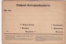 Feldpost-Correspondenzkarte Deutsch-Französischer Krieg 1870-1871 Blanko Militär