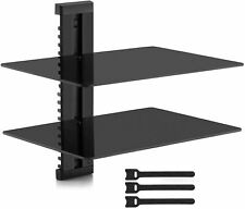 Two Floating Shelf TV Stand Wall Mount Console Entertainment Media DVD Streamer