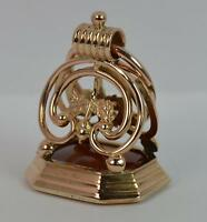 Large Stunning Georgian 15ct Rose Gold Cornelian Intaglio Seal Fob Pendant t0923