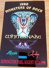 More details for whitesnake aerosmth  monsters of rock castle donington 1990 8x12 inch metal sign