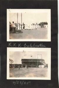 "LOT/2 FLORIDA Ku Klux Klan ""Celebration"" 1925 ORIGINAL Small Photos Lake Worth?"