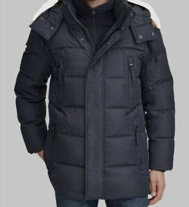 $399 Marc New York Men's Blue Long Snorkel Down Coat Jacket Size L