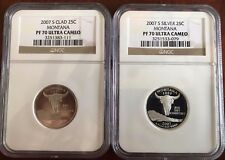 2007 S Montana SILVER and CLAD State Quarters  NGC PF 70 Ultra Cameo PROOFS