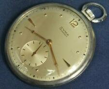 Mw1. Cyma Tavannes 44.3 Diameter 17J. Swiss Pocket Watch Running. Case Stainless