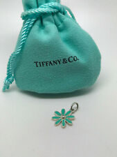 Tiffany & Co. Daisy Flower Charm pendant Green Enamel Finish in Sterling Silver
