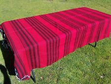 Mexican Blanket Sarape, Serape Red and Black, Southwestern Beach Yoga