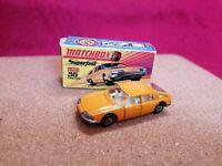 MATCHBOX SUPERFAST 56 BMC 1800 PININFARINA ORANGE 1969 MINT IN ORIGINAL BOX