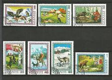 Mongolie 1975 scènes de chasse en Mongolie 7 timbres oblitérés /TR1281