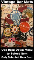 Vintage Bar Mats - Babycham, Whitbread, Captain Morgan, Mackeson +More